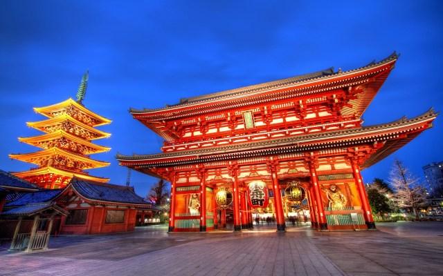 sensoji temple di asakusa jepang