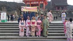 foto peserta tour ke jepang winter januari