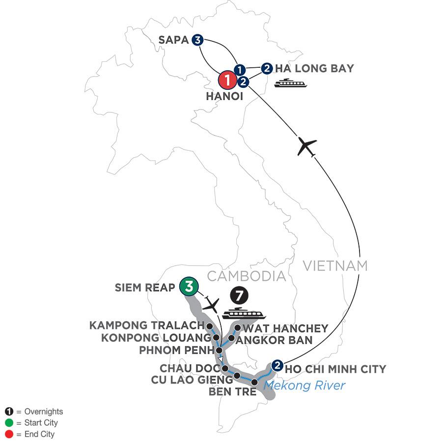 The Heart of Cambodia & Vietnam with Sapa