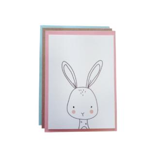 Carte de voeux - lapin