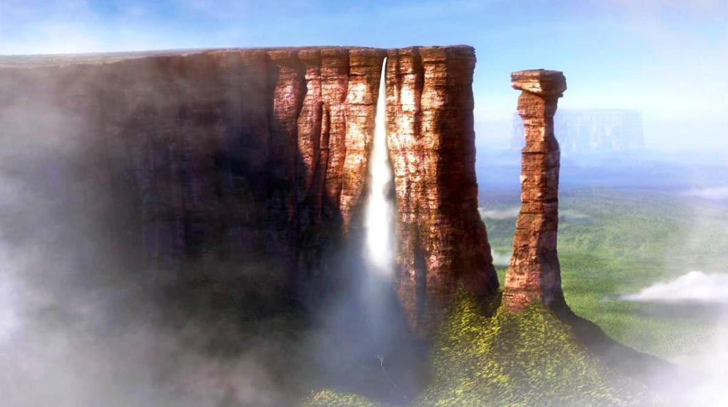 водопад на рорайме