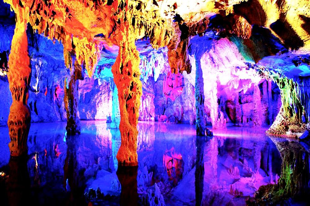 радужные краски пещеры тростниковой флейты