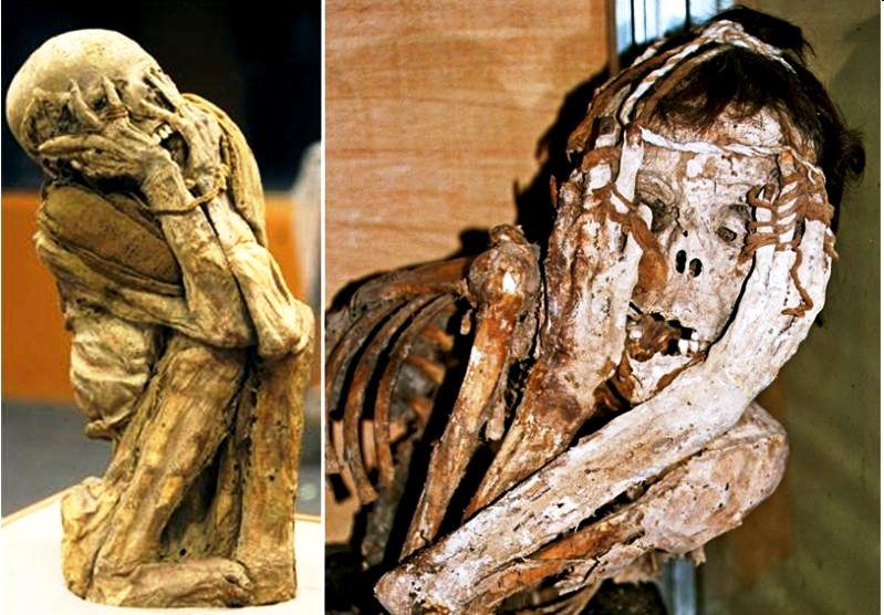перекошенные мумии карахии