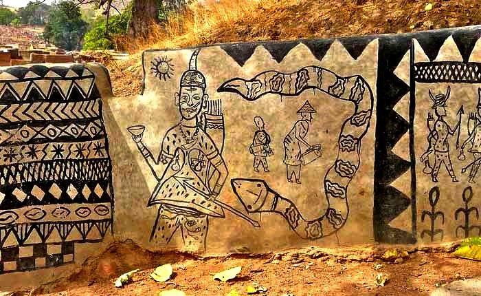 рисунки домов в Тьебеле