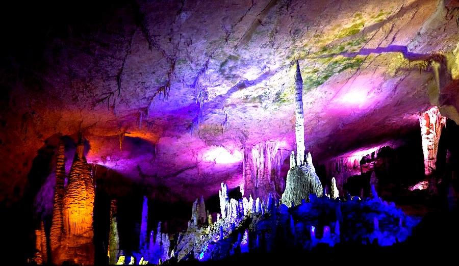 пподсветка пещеры хуанлун