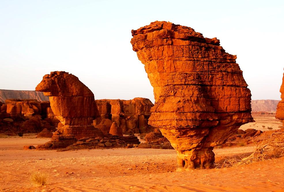 скалы выветривания плато эннеди