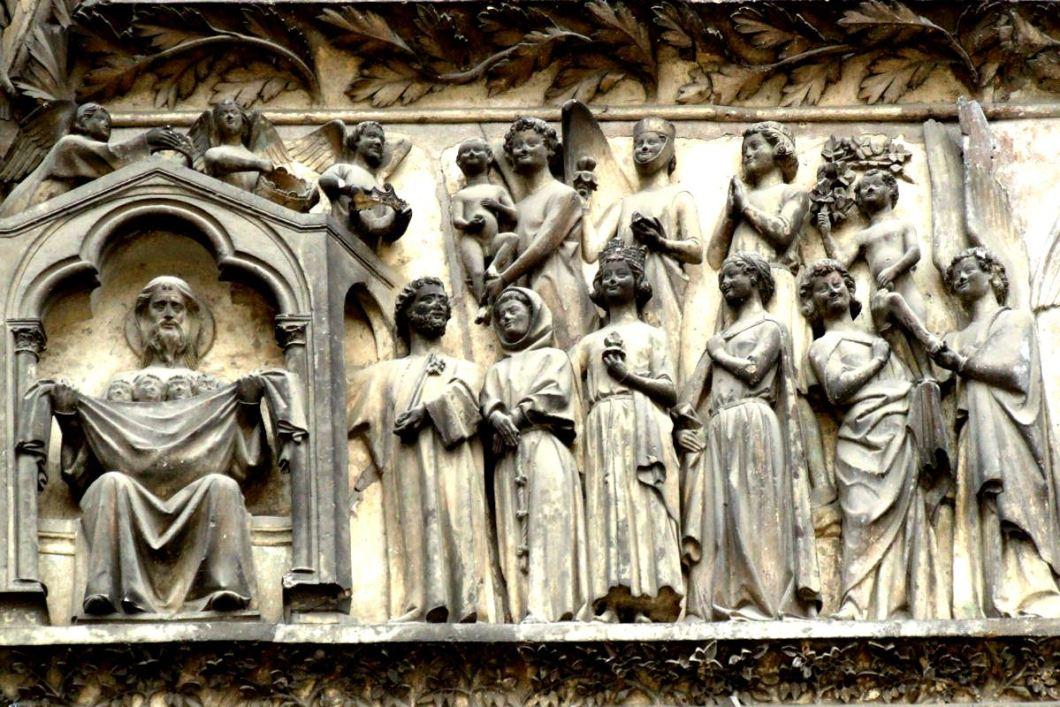 картина рая в буржском соборе