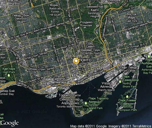 Toronto video popular tourist places Satellite map