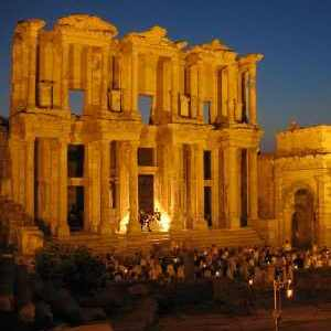 Celsus Library in the Night Time