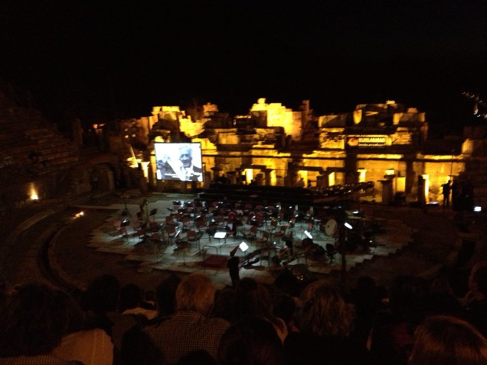 Ephesus Theater in the Night