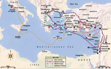 Apostle Pauls Journeys