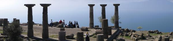 Temple of Athena in Assos Ancient City