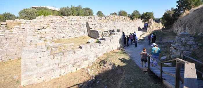 Legendary walls of Troy