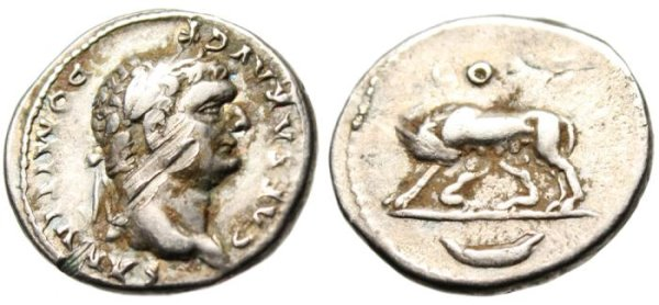 A Damaged Coin of Domitian After the Damnatio Memoriae of Domitian