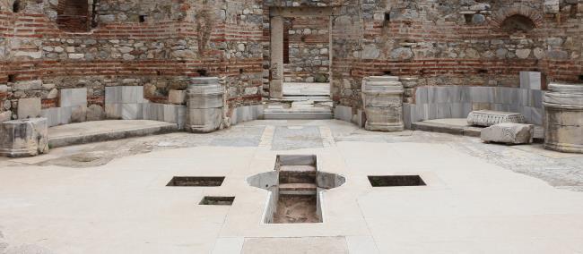 Baptizing Pool at Basilica of Saint John Nearby Ephesus