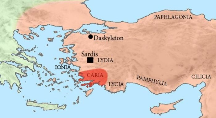 Map of Caria