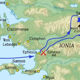 Battle of Ephesus in 498 BC