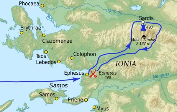 Battle of Ephesus in 498 BC
