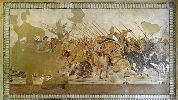 Battle of Issus by Apelles, Pompeii