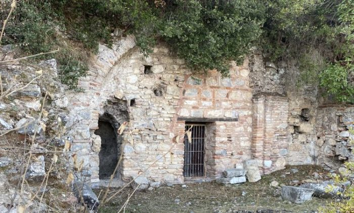 Entrance of the Grotto of Apostle Paul in Ephesus