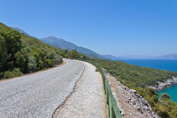 Roads of Dilek Peninsula National Park in Kusadasi, Turkey