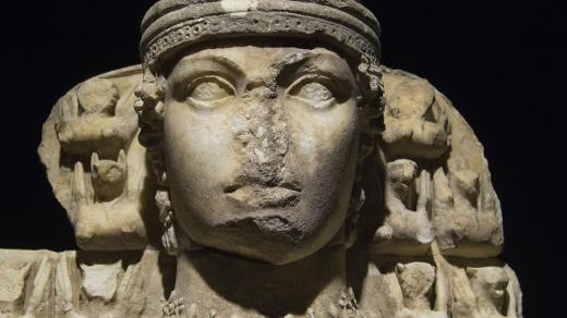 Great Artemis Statue with a Eroded Nose in Ephesus Archeological Museum