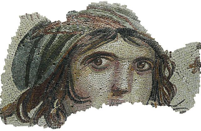 The Gypsy Girl mosaic of Zeugma from Zeugma Museum