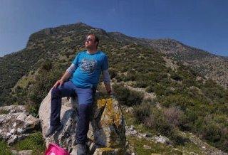 On a trekking route nearby Ephesus