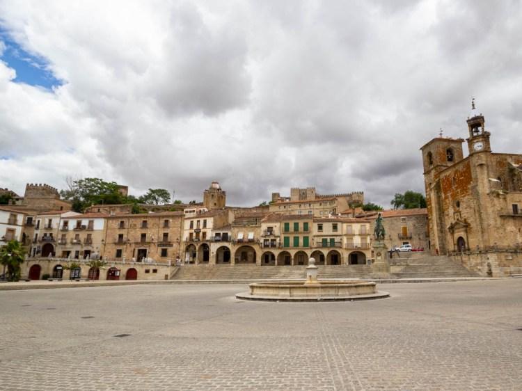 Panoramic view of Trujillo's Plaza Mayor