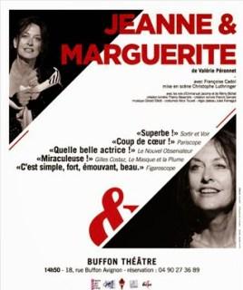 Jeanne et Marguerite  Festival d'Avignon 2014 Valérie Péronnet Christophe Luthringer Françoise Cadol