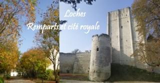 Loches côté remparts et cité royale boulevard Philippe Auguste fête d'automne visite itineraire circuit
