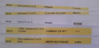 Composer son programme pour le festival d'Avignon