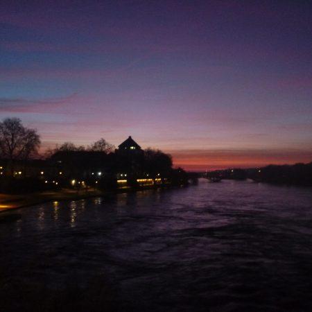 coucher de soleil Tours
