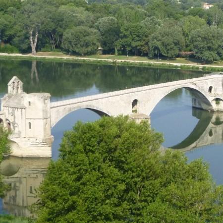 pont d'avignon reflet