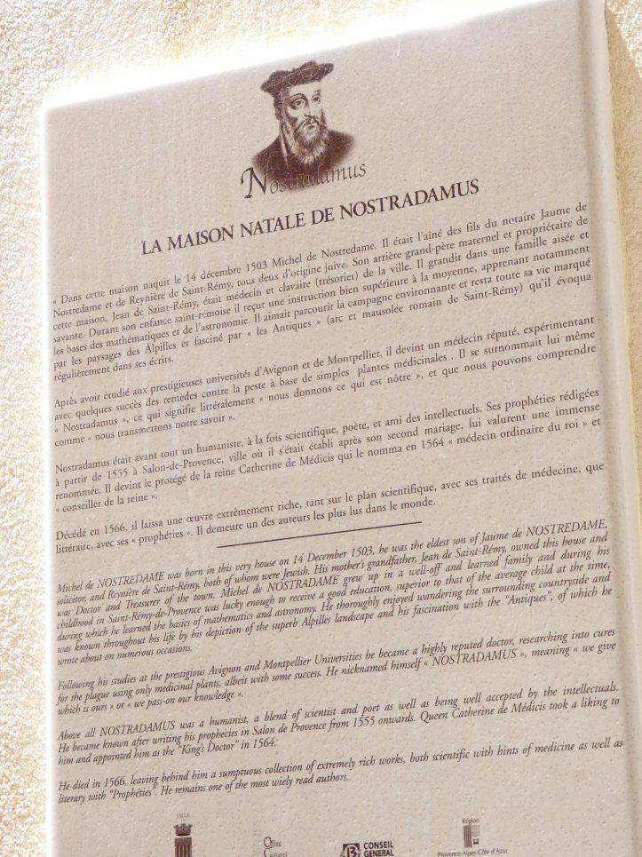 nostradamus saint remy de provence