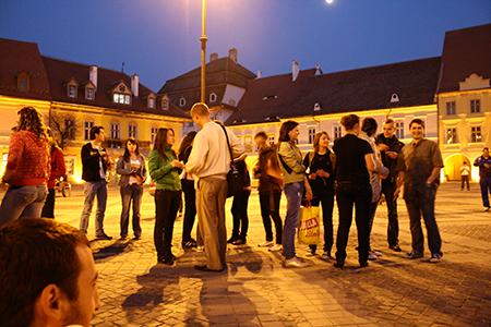 Sibiu Main Square by Aurelian Săndulescu (