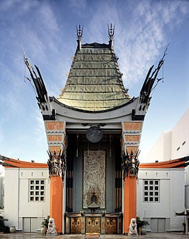 The Graumans Chinese Theater on Hollywood Walk Of Fame