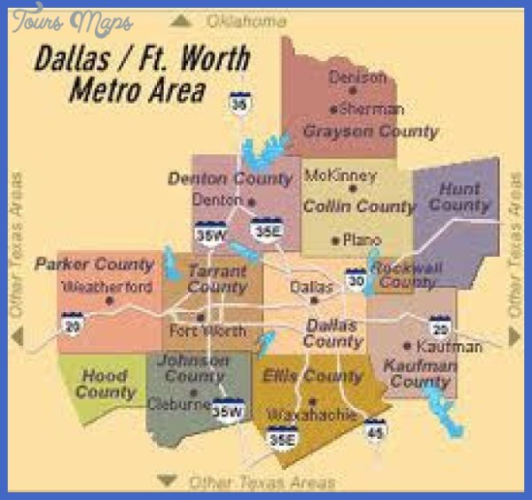 Dallas Metro Map ToursMapscom
