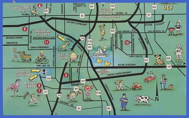 Orlando Map Tourist Attractions Toursmaps Com