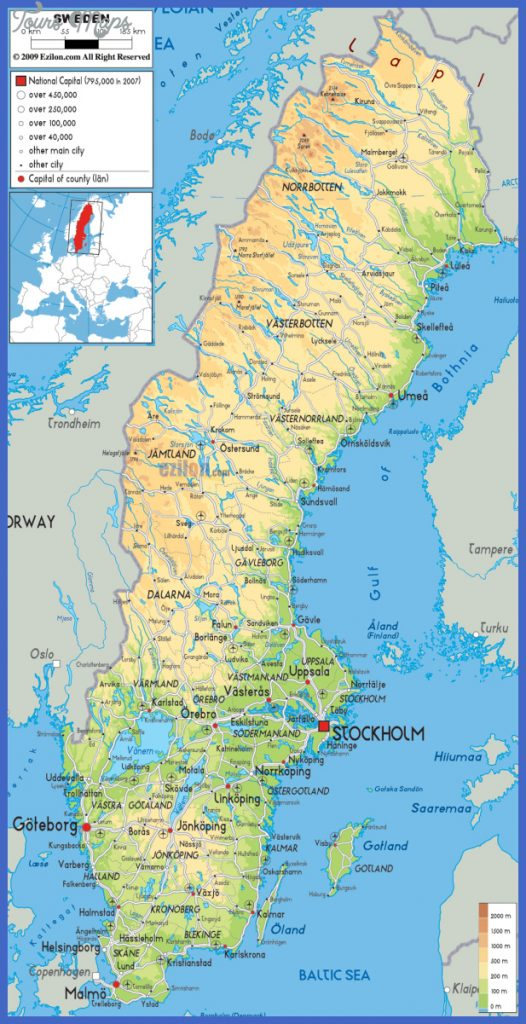 Sweden Map ToursMapscom