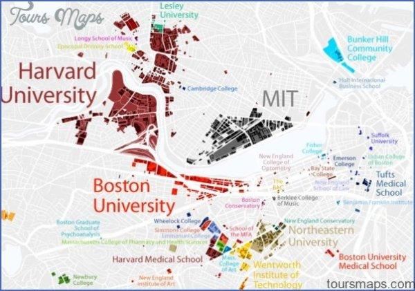 Boston University US Map amp Phone amp Address ToursMapscom