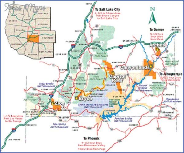 ZION NATIONAL PARK UTAH DIRECTIONS ToursMapscom