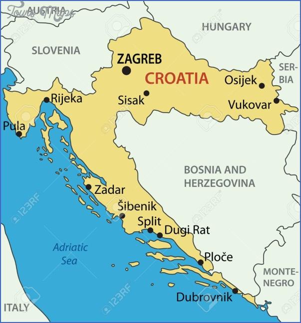 Croatia Map - ToursMaps.com