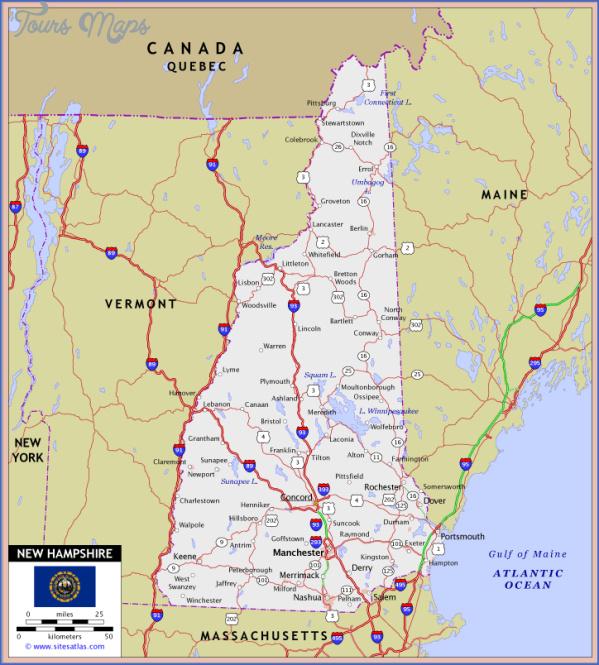 New Hampshire Map ToursMapscom
