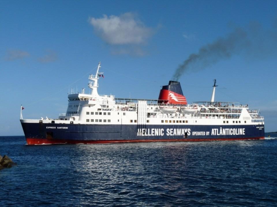 Azores Ferry Boat travelling between islands pico island faial Atlanticoline