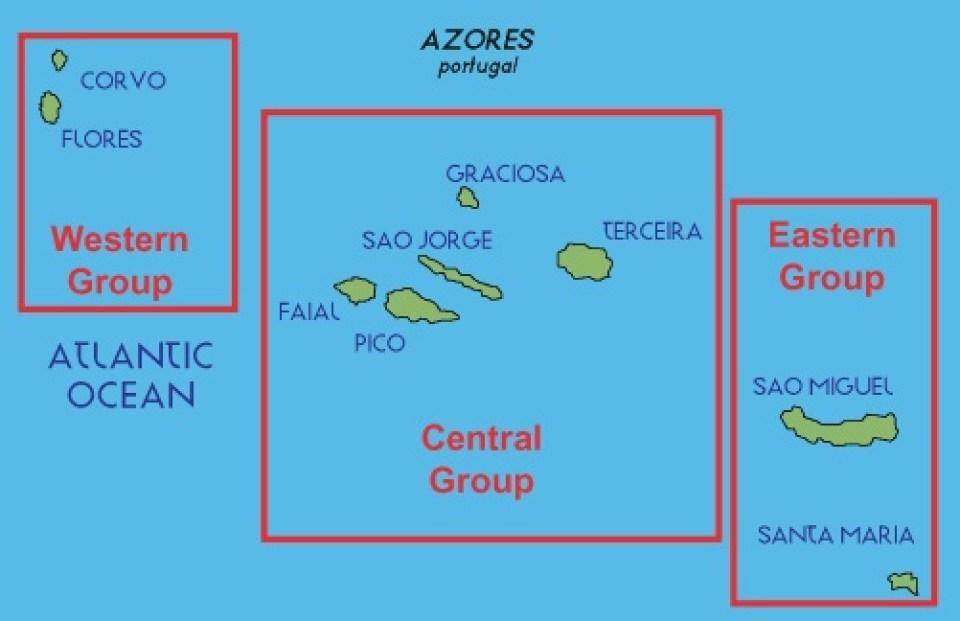 atlanticoline Azores ferry transit map