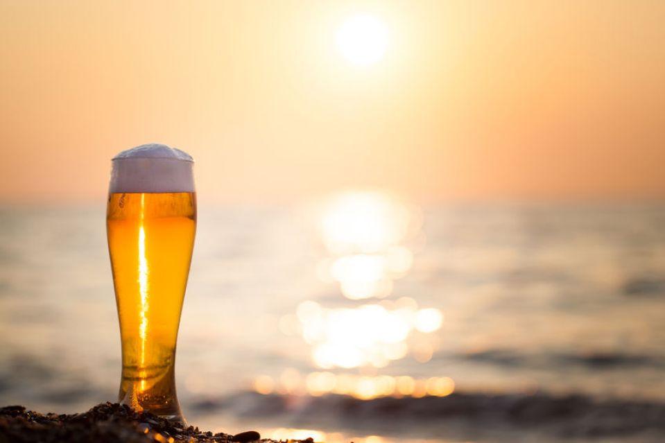 beer in the azores sagres super bok sao miguel island beach