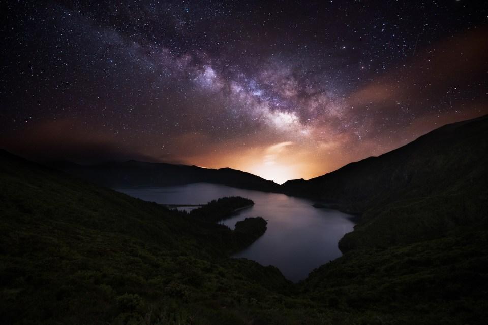 Azores Night Sky Stars Lagoa do Fogo
