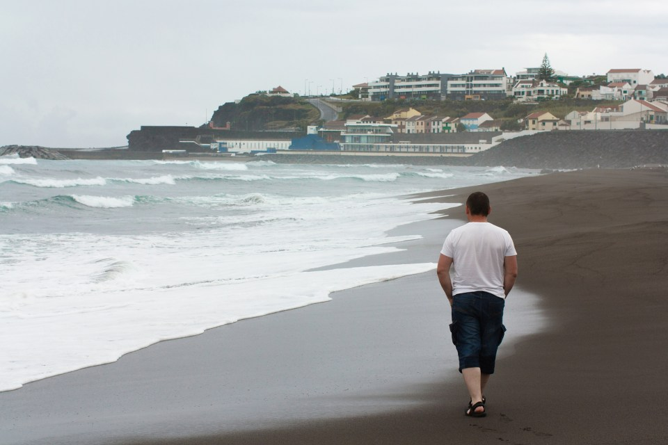 azores winter weather on the beach sao miguel island