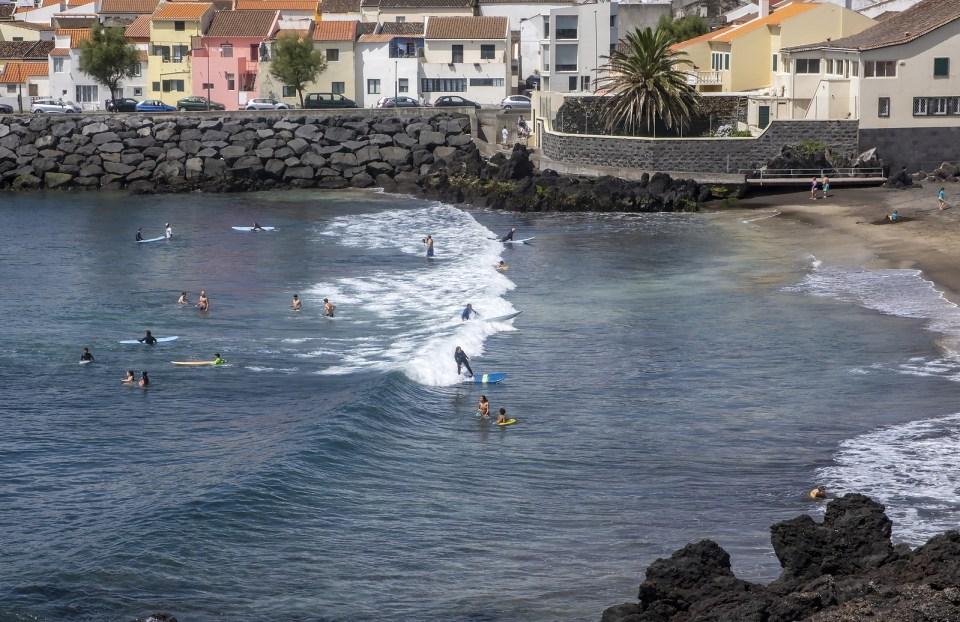 surfing ponta delgada azores beach